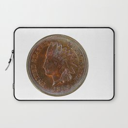 Pristine Indian Head penny on white background Laptop Sleeve