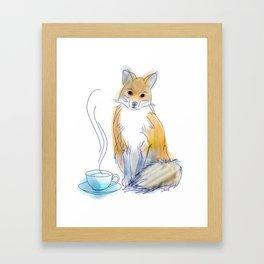 Foxy Tea Framed Art Print