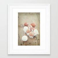 eggs Framed Art Prints featuring Eggs by Luisa Morón-Fotografía