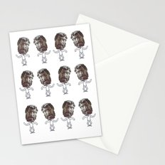 dancing heads Stationery Cards