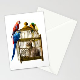 Caged and Confused Stationery Cards