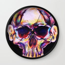 skull with ears Wall Clock