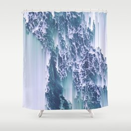 Comes and goes (in waves) Shower Curtain