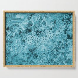 ice Crystals turquoise Serving Tray
