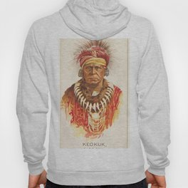 Keokuk, Sac and Fox, from the American Indian Chiefs series (N2) for Allen & Ginter Cigarettes Brand Hoody