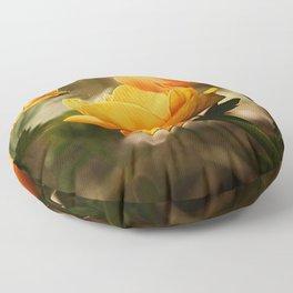 Butterfly on Flower Floor Pillow