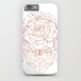 Mandala Lunar Rose Gold iPhone Case