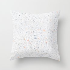 Natural Terrazzo Stone Stucture Pattern Pastel Throw Pillow