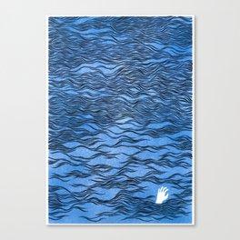 Man & Nature - The Dangerous Sea Canvas Print