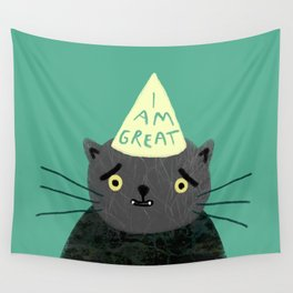 "Fat Olive ""I Am Great"" Wall Tapestry"