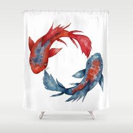 Yin Yang Koi Fish Shower Curtain