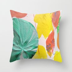 Acryl colored dots Throw Pillow