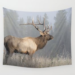 Bull Elk One Wall Tapestry