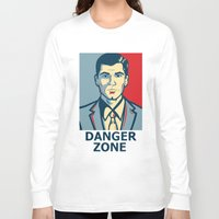 archer Long Sleeve T-shirts featuring Archer by Mental Activity