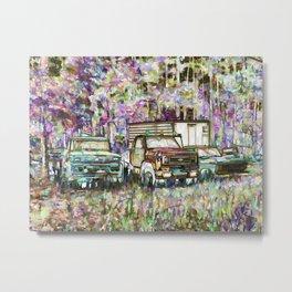 Abandoned truck Metal Print
