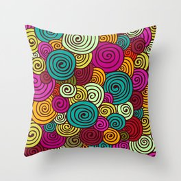African Style No10 Throw Pillow