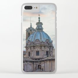 Roman Sunset Clear iPhone Case