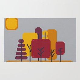 Sun over Autumn Forest Rug