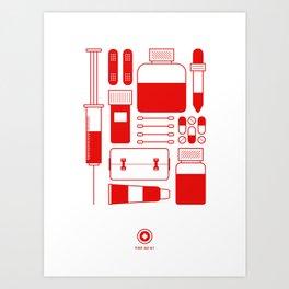 First Aid Kit Art Print