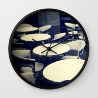 outdoor Wall Clocks featuring Outdoor Cafe Chairs by ELIZABETH THOMAS Photography of Cape Cod