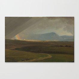 Landscape near Rome during a Storm, Simon Denis Canvas Print