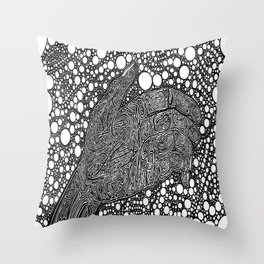 Grasping for Pearls Throw Pillow