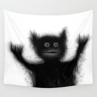 monster Wall Tapestries featuring Monster by alliedrawsthings
