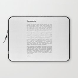 Desiderata #minimalism Laptop Sleeve