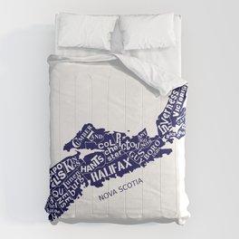 Nova Scotia Map Comforters