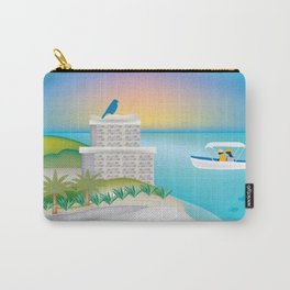 Tulum, Mexico - Skyline Illustration by Loose Petals Carry-All Pouch