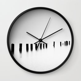 Sea Pillars III Wall Clock