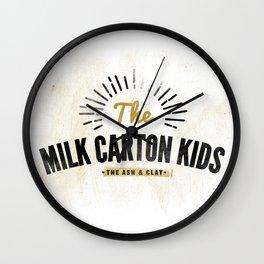 Milk Carton Kids Wall Clock