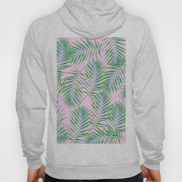 Fern Leaves Pink Hoody