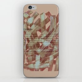 brush type brown iPhone Skin