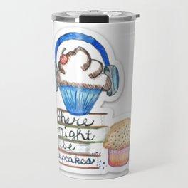 Cupcake Logo with Shadow Travel Mug