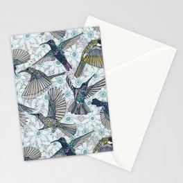 hum sun honey birds blue Stationery Cards