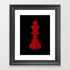 Red Chess Piece - No Text Framed Art Print