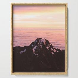 Mountain sunrise - A dreamy landscape Serving Tray