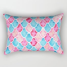 Colorful Moroccan style pattern Rectangular Pillow