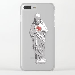 Sacred Heart Jesus Clear iPhone Case