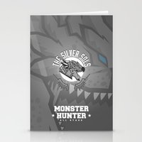 monster hunter Stationery Cards featuring Monster Hunter All Stars - The Silver Sols by Bleached ink