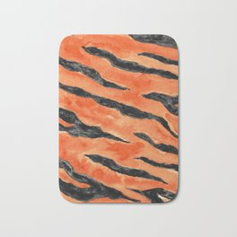 Tiger Stripes (Orange/Black) Bath Mat