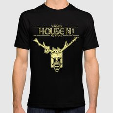 House NI Mens Fitted Tee LARGE Black
