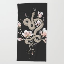 Magnolia and Serpent Beach Towel