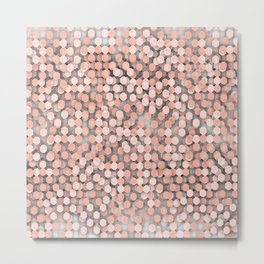 Hexagonal peach color background Metal Print