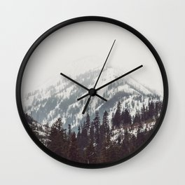 Storm in the Mountain Forest - Nature Photography Wall Clock