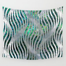 Abstract Ripple  Abalone and Mother of pearl Wall Tapestry