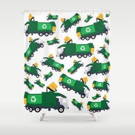 Garbage Truck Toys Truck Pattern Shower Curtain