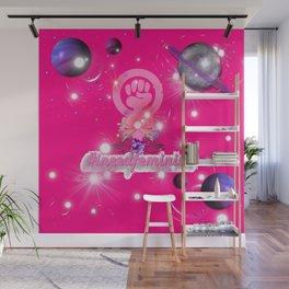 #IneedFeminism - Pink Galaxy Wall Mural