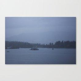 Foggy harbour Vancouver Canvas Print